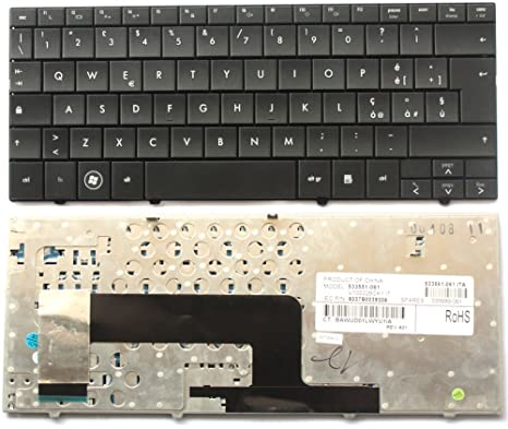 Teclado italiana Nuova para ordenador portátil HP Mini 110 – 1000 CQ10 – 100 serie negra