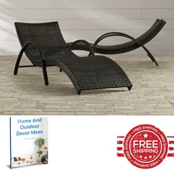 Cool Amazon Com Chaise Lounge Chair Set Pool Outdoor Resin All Dailytribune Chair Design For Home Dailytribuneorg