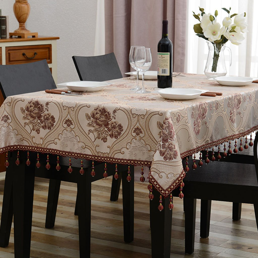 Küchenwäsche Tischdecke Rechteck Europäischen Tee Tisch Eine Lange Tischdecke Wohnzimmer Tischdecken ( Farbe   D , größe   110170cm ) B079BPYGG1 TischdeckenSpielzeugwelt, spielen Sie Ihre eigene Welt   Sale Online Shop