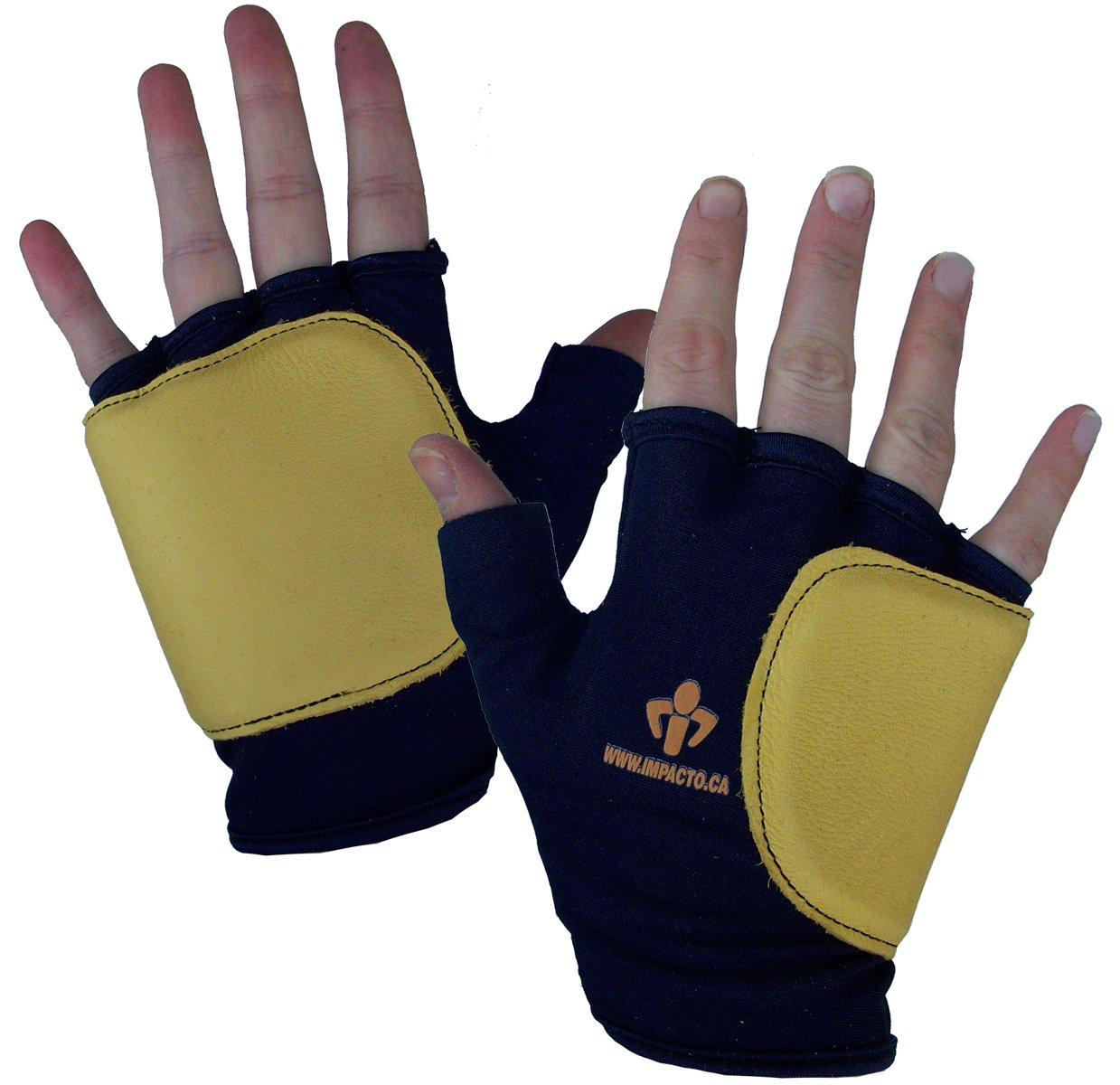 Impacto 50320110040 Anti-Impact Glove, Blue/Yellow