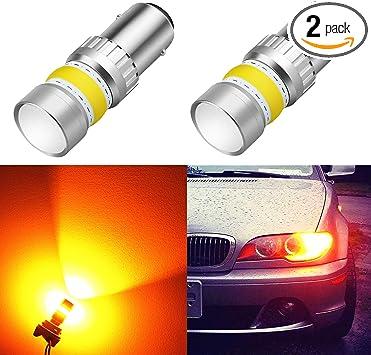SiriusLED 1157 1157A 3000K Amber LED Turn Signals Light Bulbs 400 Lumens 49mm