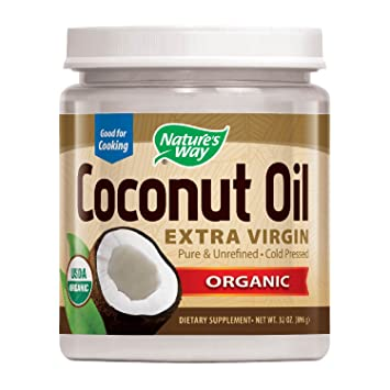 Nature's Way Organic Extra Virgin Coconut Oil- Pure, Cold-pressed, Organic,