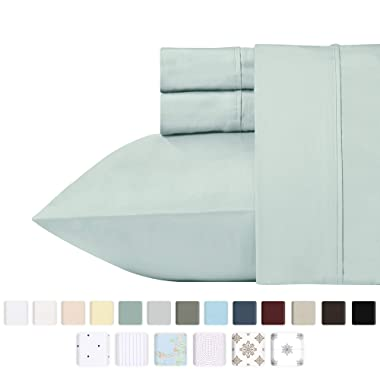 400 Thread Count 100% Cotton Sheet Set on Amazon - Mod Spa Queen Size Best Sheets - 4 Piece Set, Highest Quality Long-staple Combed Pure Natural Cotton Bed Sheets For Bed, Soft & Silky Sateen Weave