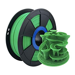 ZIRO PLA Filament 1.75mm,3D Printer Filament PLA PRO Basic Color Series 1.75MM 1KG(2.2lbs), Dimensional Accuracy +/- 0.03mm,Green