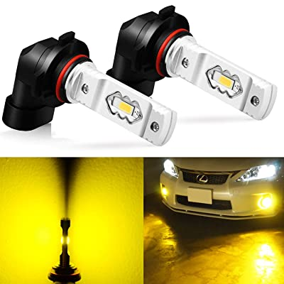 JDM ASTAR Super Bright High Power H10 9145 9140 9050 9155 LED Fog Light Bulbs, Golden Yellow: Automotive