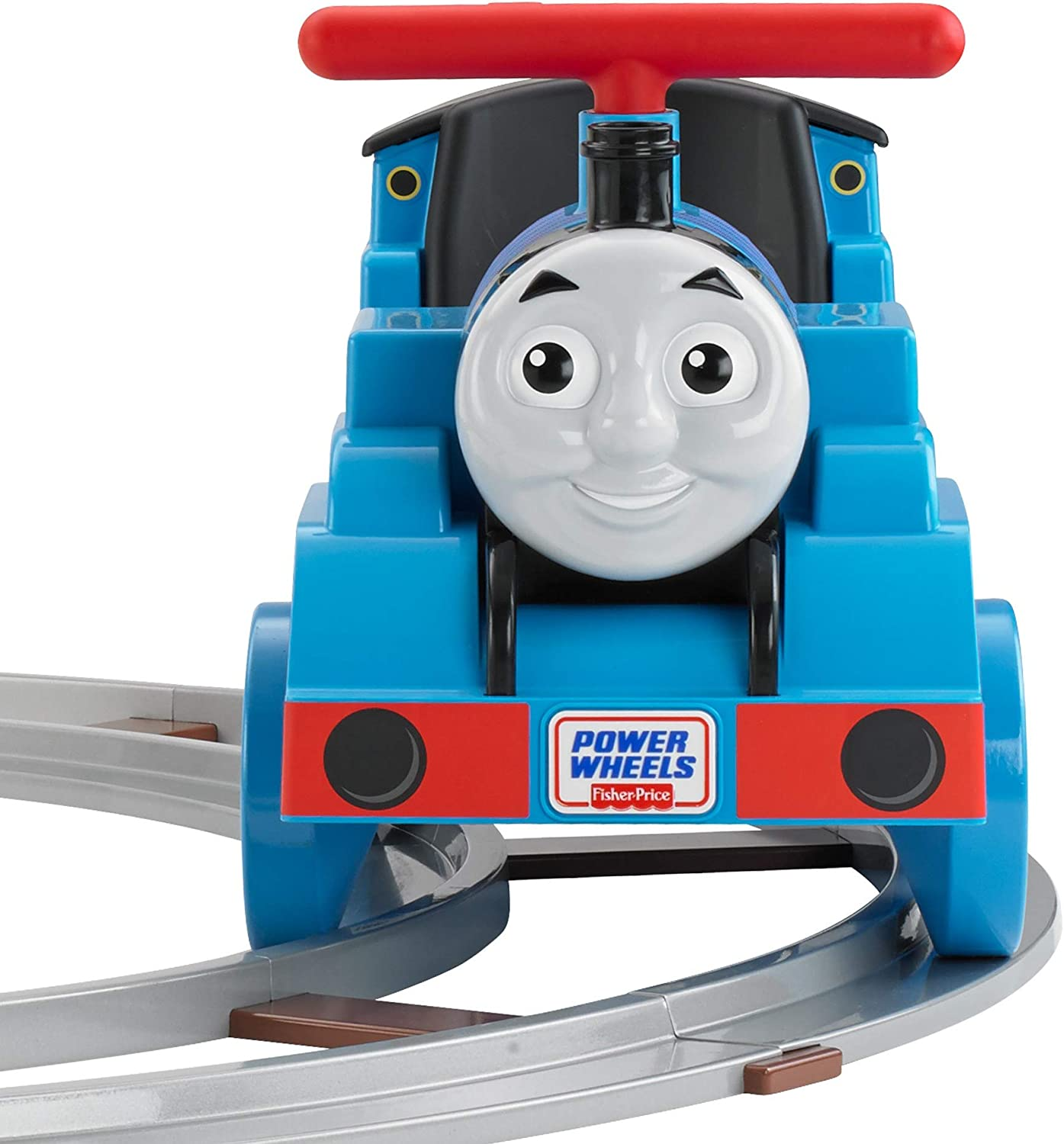 Amazon Com Power Wheels Thomas And Friends Thomas Train With Track Amazon Exclusive Toys Games