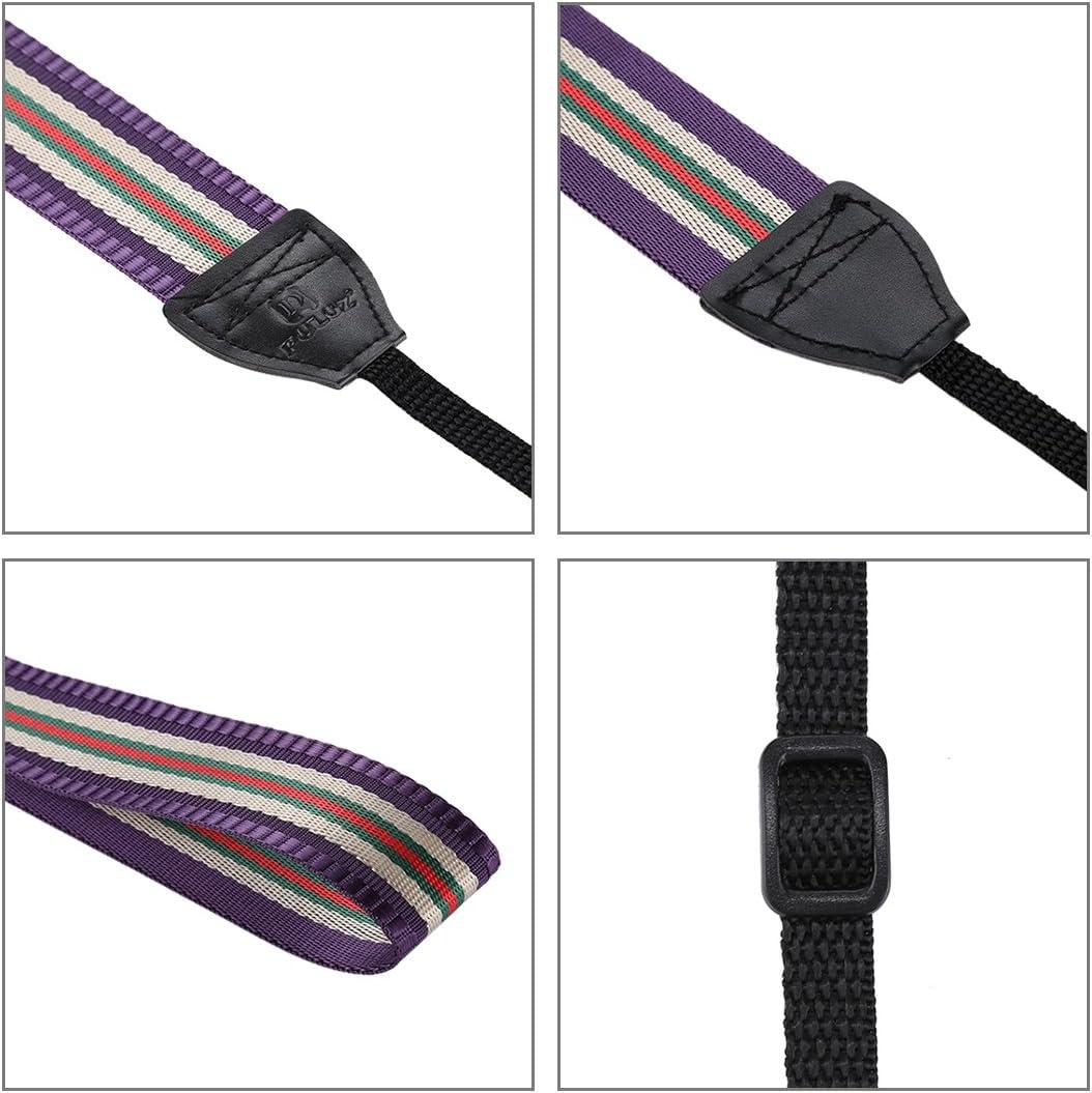 Color : Purple HUANGMENG HUANGMENG Strap Stripe Style Series Shoulder Neck Strap Camera Strap for SLR//DSLR Cameras Dark Red