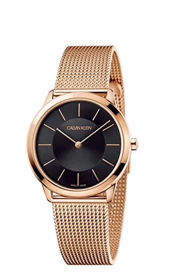 Calvin Klein Reloj Analógico para Mujer de Cuarzo con Correa en Acero Inoxidable K3M2262Y: Amazon.es: Relojes