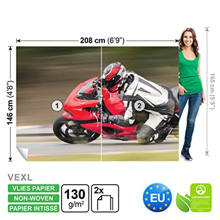 FORWALL Photomural Wallpaper Mural Dekoshop Moto GP Boys Teenagers