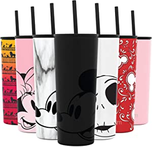 Simple Modern Disney 24oz Classic Tumbler with Straw Lid & Flip Lid - Travel Mug Gift Vacuum Insulated Coffee Beer Pint Cup - 18/8 Stainless Steel Water Bottle Disney: Mickey on Black
