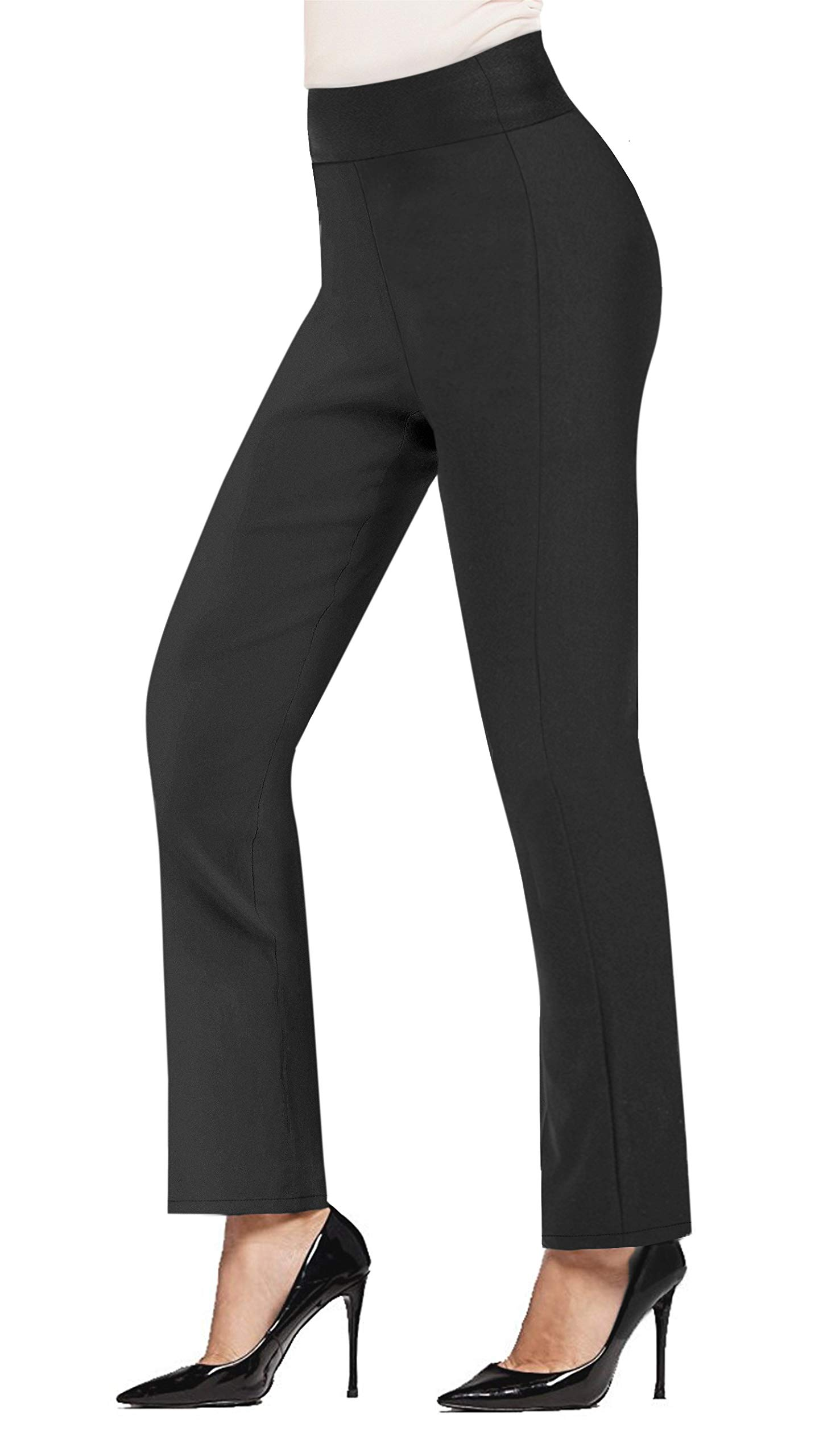 HyBrid & Company Super Comfy Stretch Pullon Bootcut Millennium Pants P44972BL Charcoal XL by HyBrid & Company