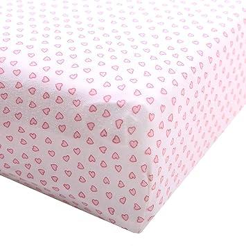 Pink Knit Fitted Portable Crib Mini Crib Sheet Porta Crib sheet Choose Pattern