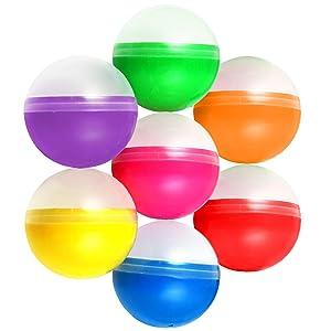2.6 inch Vending Machine Capsules - 65 mm Empty Semi-Colored Big Size Round Capsules - Gumball Machine Capsule 7 Colors Bulk 50 pcs