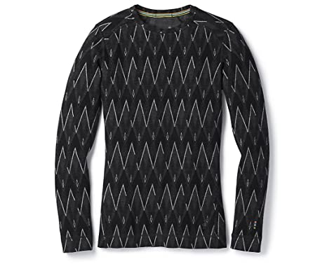 SmartWool Women s Merino 250 Baselayer Pattern Crew Black-Char H X-Small 9dd5819950