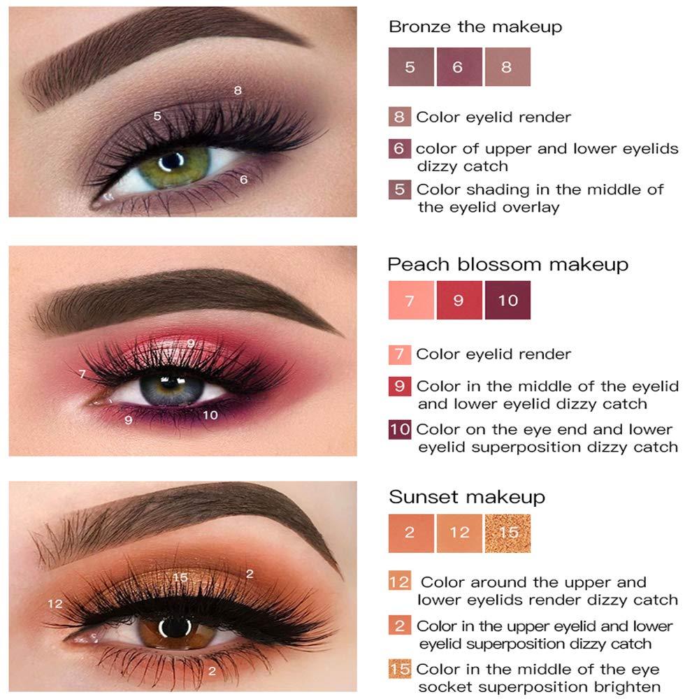 18 Colors Pearl Eye Shadow Powder Palette Matt Eyeshadow Cosmetic Makeup matte and shimmer eyeshadow palette eyeshadow pigments make up palette (Black)