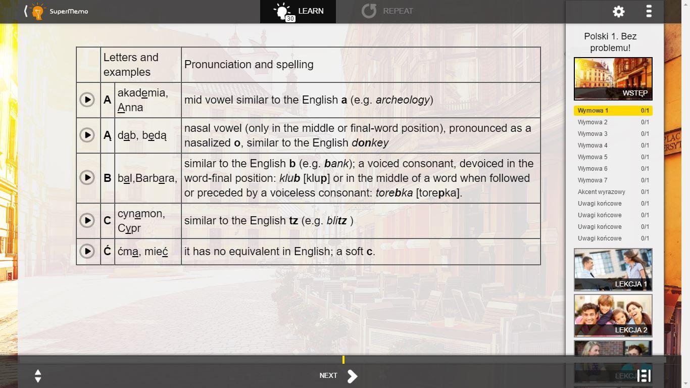 Learn Polish: Polski 1. Bez problemu! Elementary by SuperMemo [Download]