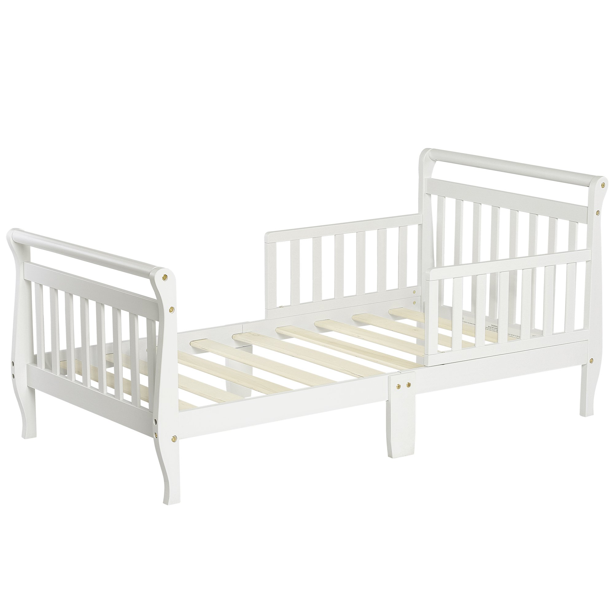 Dream On Me Classic Sleigh Toddler Bed, White by Dream On Me