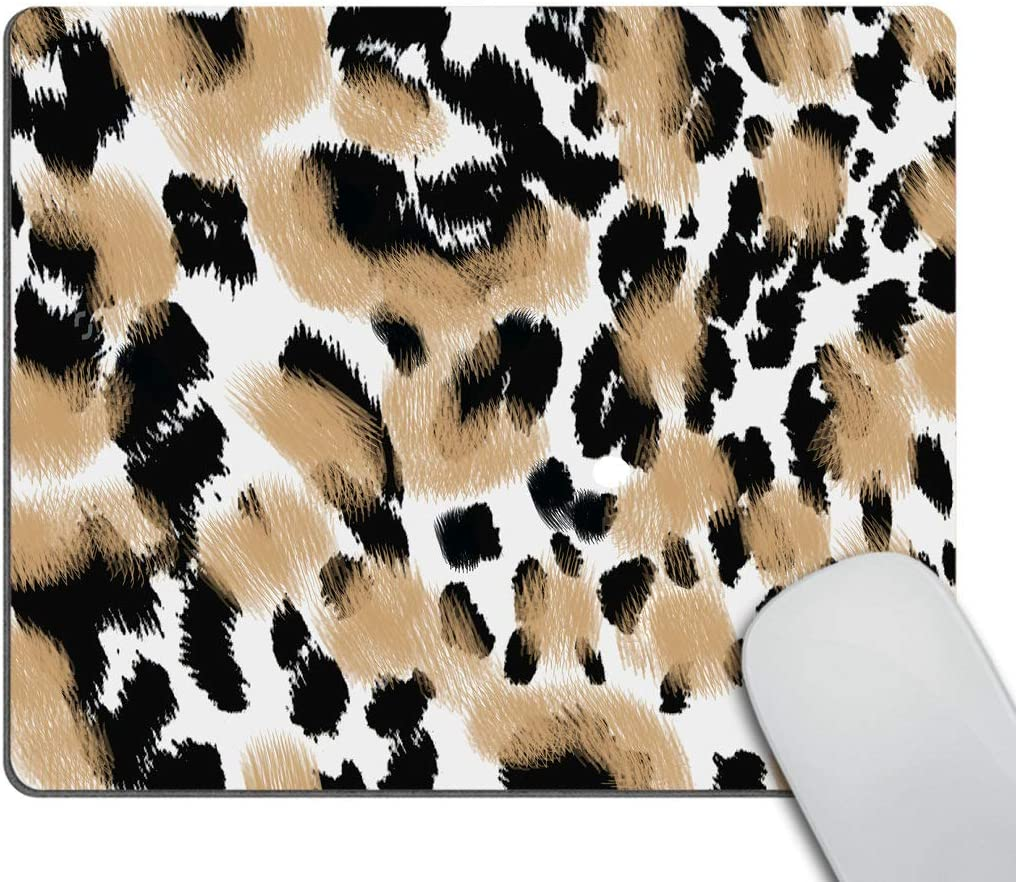Smooffly Animal Gaming Mouse Pad Custom, Leopard Print Mousepad Antique Decorate Mouse Pads 9.5 X 7.9 Inch (240mmX200mmX3mm)