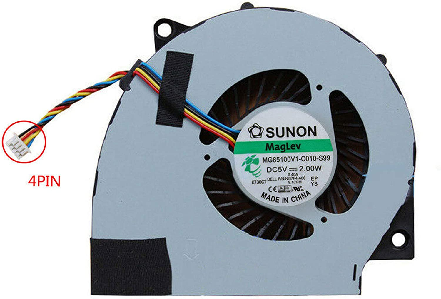 UoUo CPU Cooling Fan for Dell Inspiron 2350 7459 Delta BSB0705HC CJ2B 0NG7F4 NG7F4 Replacement