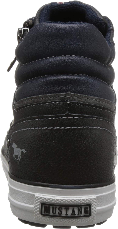 Mustang Men's High Top Sneaker Hi Trainers Grey Graphite 259