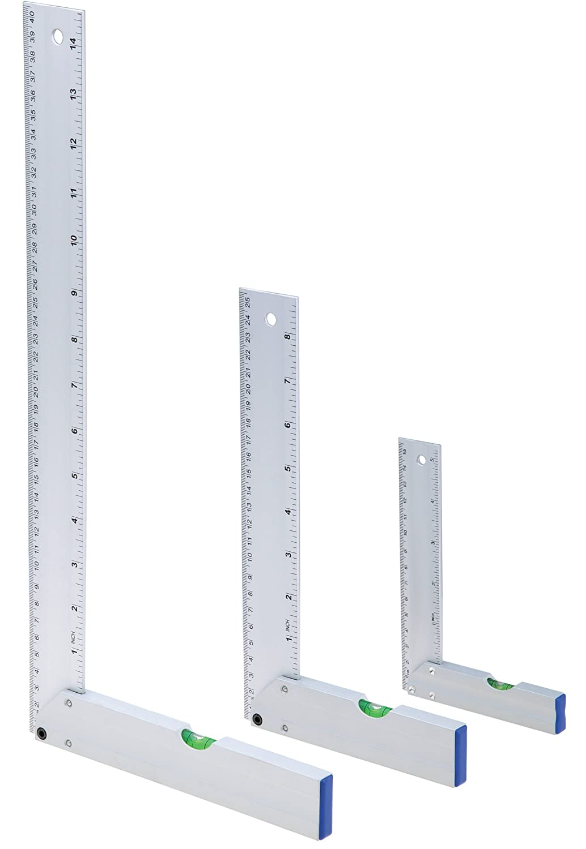 3-Piece Woodstock D3747 Aluminum Square//Level Set