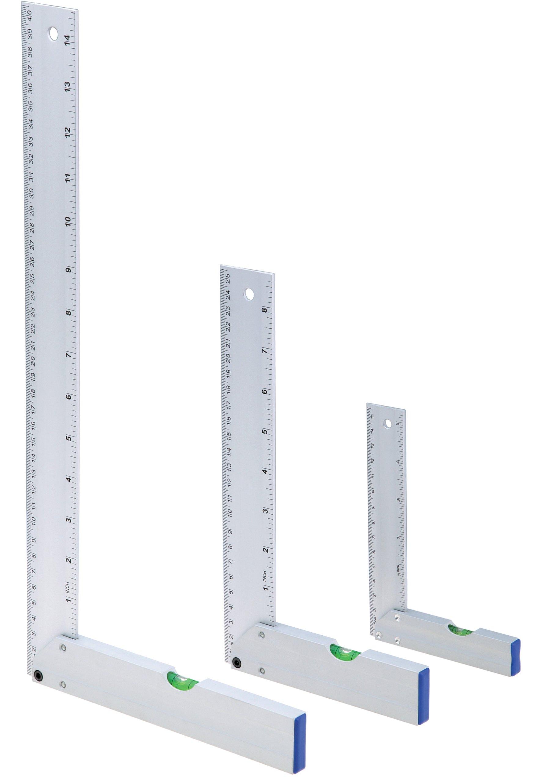 Woodstock D3747 Aluminum Square/Level Set, 3-Piece