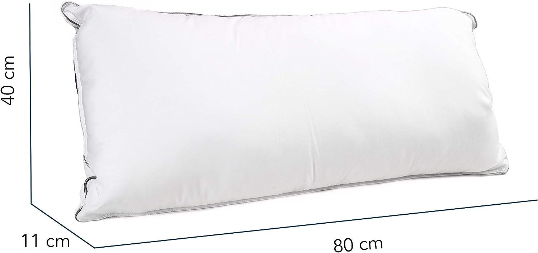 Coussin Respirant Oreiller Ergonomique de Qualit/é Sup/érieure MyComfy Oreiller Memoire Forme 40x80 cm Antibact/érien et Antiallergique Housse Luxueuse en Microfibre