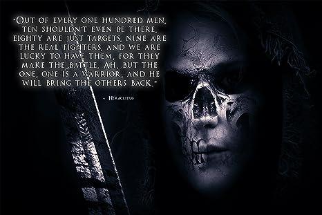 Amazoncom Warrior Poster Hero Poster Motivational Quote