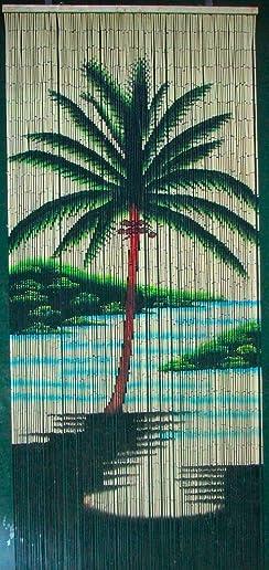 ABeadedCurtain 125 String Single Palm Tree Beaded Curtain Handmade with 4000 Beads Hanging Hardware 38 More Strands and Beads