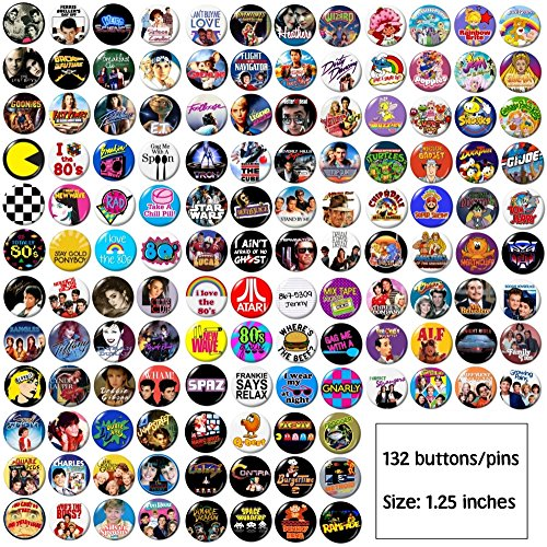 Huge Lot of 80's Buttons Pins]()