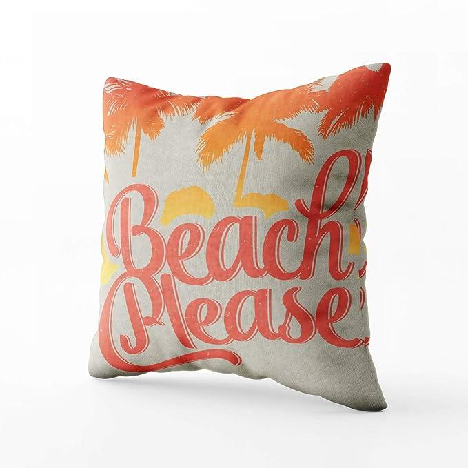 Amazon.com: EMMTEEY - Funda de almohada para sofá, playa ...