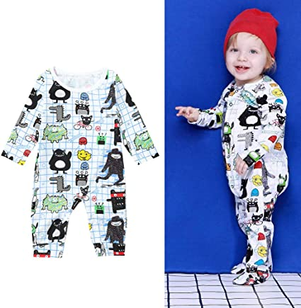 Newborn Baby Boys Girl Hooded Long Sleeve Romper Jumpsuit One Piece Warm Clothes