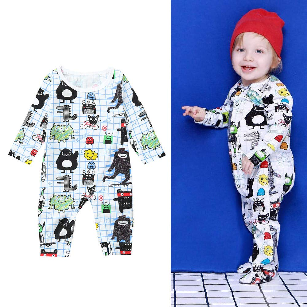 Matoen Newborn Infant Baby Girl Boy Cartoon Romper Animal Jumpsuit Clothes Outfits