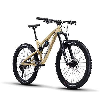 "Diamondback Bicycles Release 3 Full Suspension Mountain Bike, 19""/Large, Tan best downhill bikes"