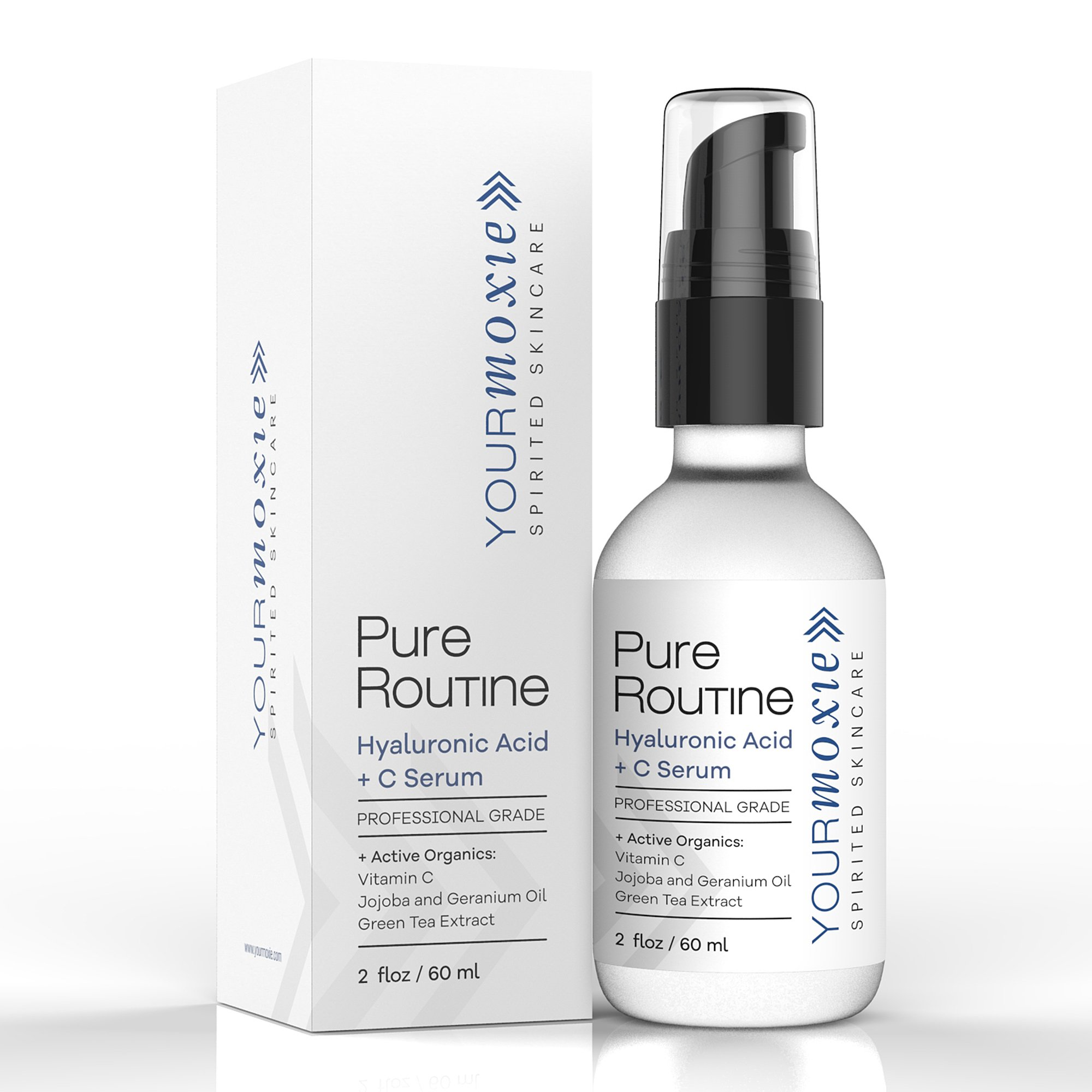 Best Hyaluronic Serum for Face - with Vitamin C - NATURAL and ORGANIC for Intense Hydration and Moisture, Non-greasy, Pure-Highest Quality, Best Hyaluronic Acid for Glowing Skin and Anti-Aging by YourMoxie