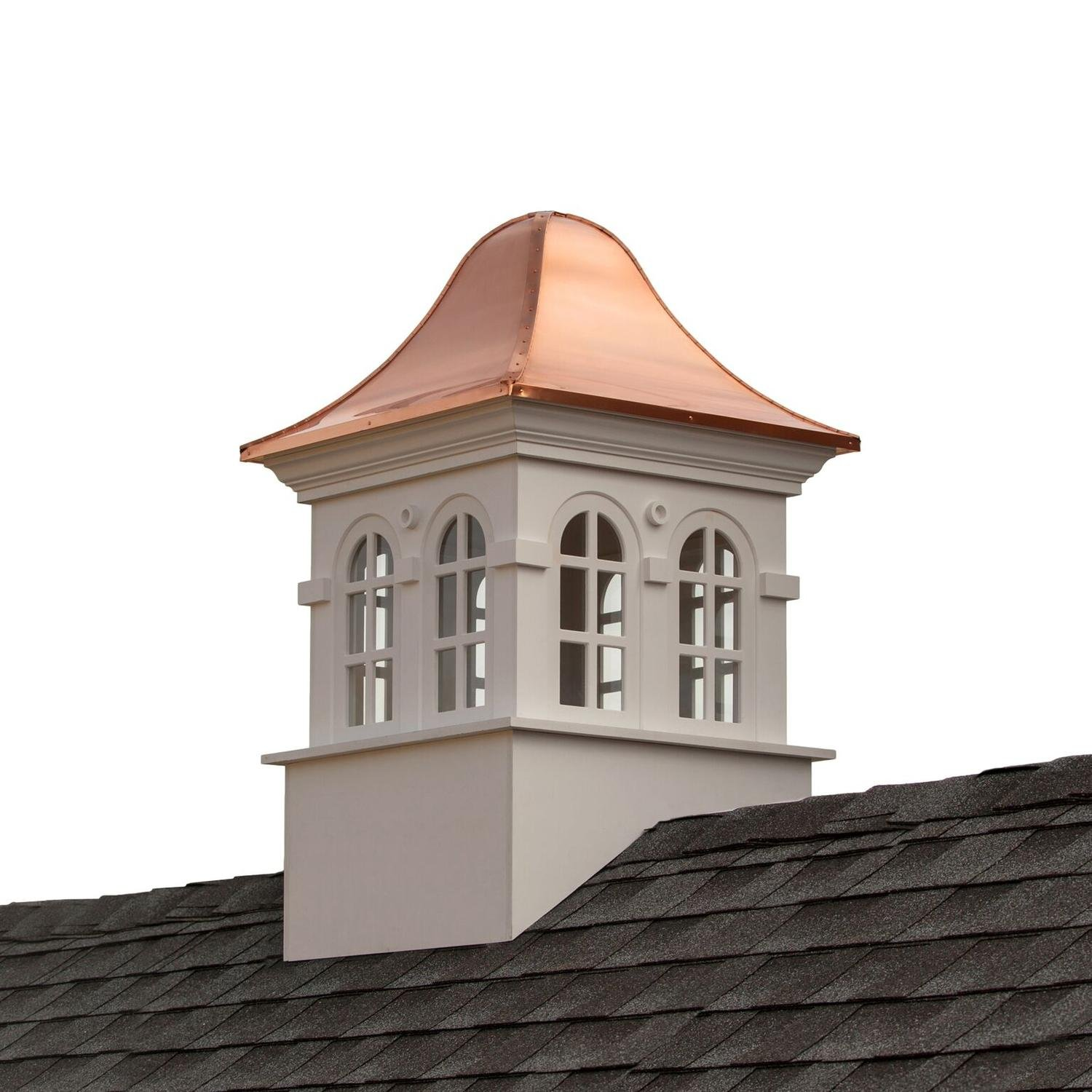 66'' Beautiful Handcrafted Smithsonian Collection Rockville Vinyl Cupola with Copper Roof