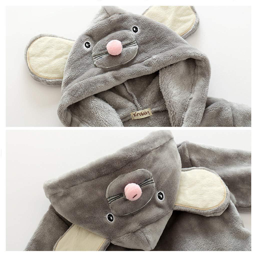 Kinder Nachtw/äsche mit Kapuze Bademantel Baby Kleinkind Jungen M/ädchen Nachthemd Flanell Pyjamas Badem/äntel Cartoon Tiere Handtuch Hase