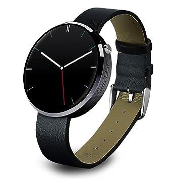 OH-BOX® Dm360 2016 venta caliente nuevo reloj inteligente SmartWatch para iOS Android movil con monitor de ritmo cardiaco reloj Bluetooth (Negro): ...