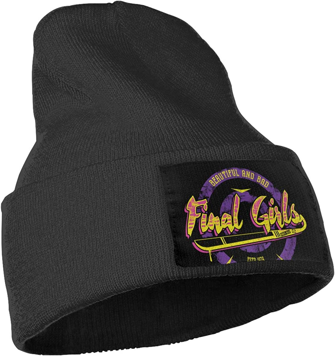 JimHappy Final Girls Winter Warm Hats,Knit Slouchy Thick Skull Cap Black