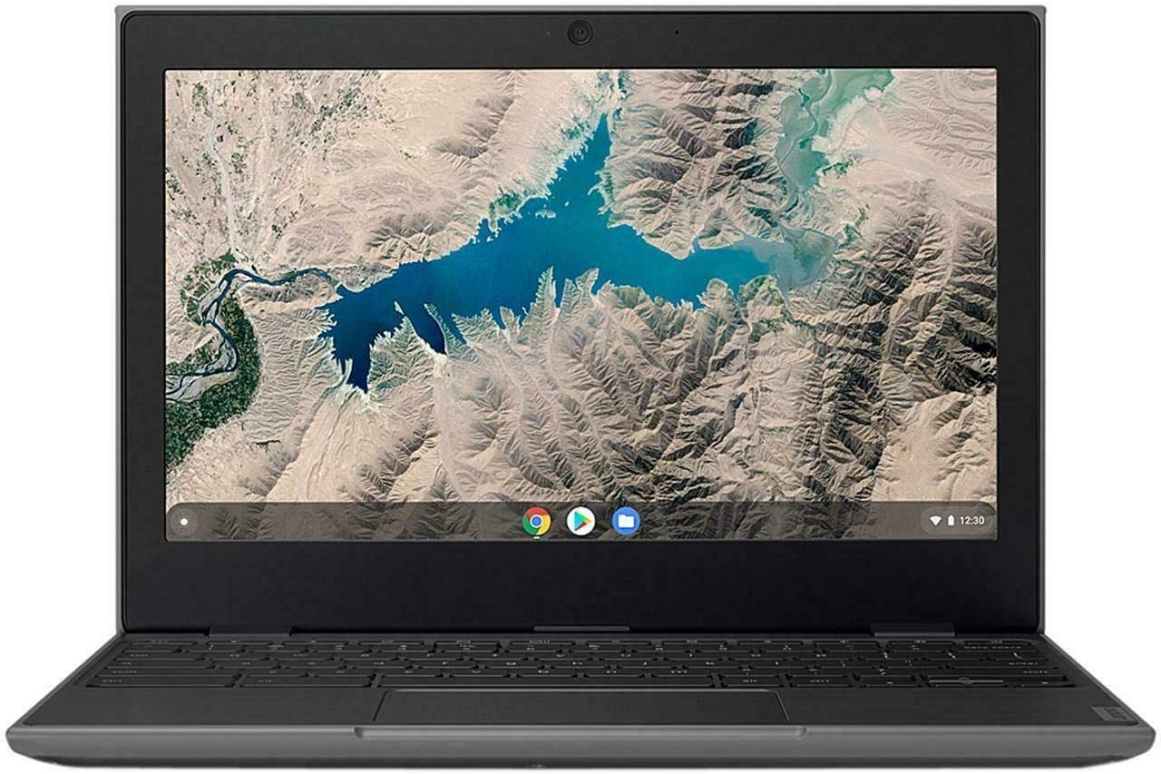"Lenovo 100E Chromebook 2ND Gen 81QB000AUS Laptop Computer, 11.6"" HD (1366 X 768) Display, MediaTek MT8173C Processor, 4GB RAM, 16GB eMMC TLC SSD, Powervr GX6250, Chrome OS, Black (Renewed)"