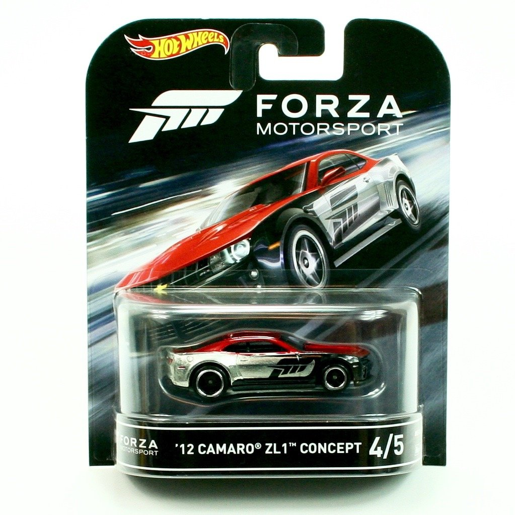 '12 CAMARO ZL1 CONCEPT from the classic video game FORZA MOTORSPORT Hot Wheels 2016 Retro Entertainment Series 1:64 Scale Die Cast Vehicle (#4 of 5) by Retro Series DJF52