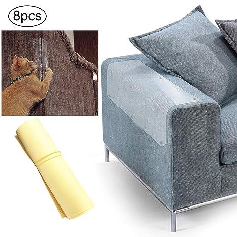 Mascotas Sofá Protector, Protectores de Muebles de Gatos, Muebles Antiarañazos Pegatina Transparente Autoadhesivo Rascador