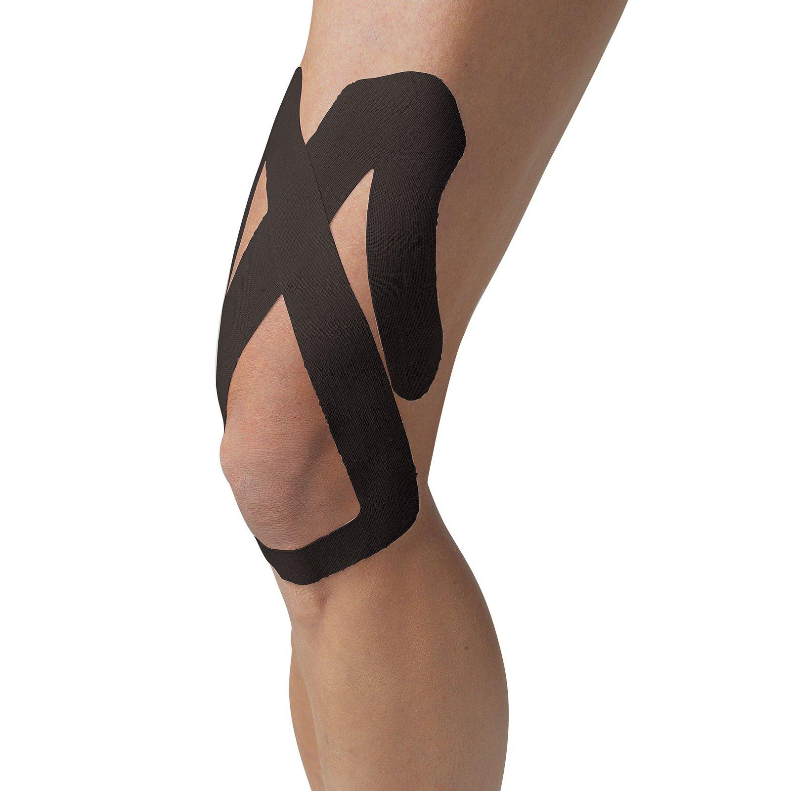 SpiderTech Upper Knee Kinesiology Tape - Bulk Package (10) (Black) by Spider Tech