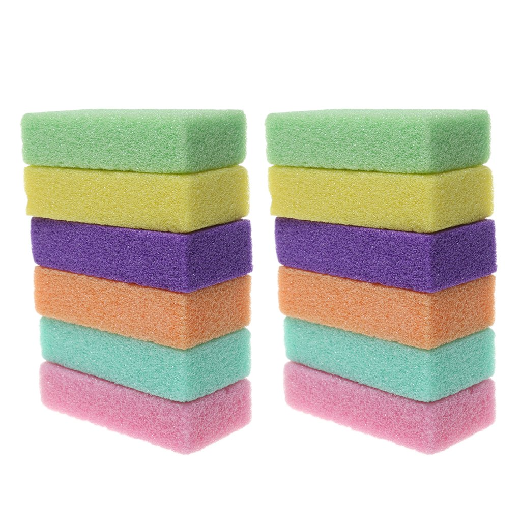 MagiDeal 2Pcs Foot Care Scrubber Pumice Stone Callus Removal Foot Clean Pedicure