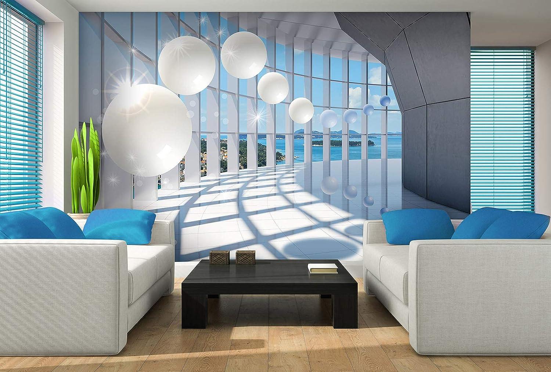 Forwall Fototapete Vlies Wanddeko Tunnel 3D 3D 3D – Moderne Wanddekoration 10419VEXXXL 416cm x 254cm B07NPKX725 Wandtattoos & Wandbilder e894c2