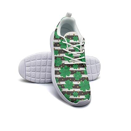 c3af31818116 Glitter Shamrock Decorations Women s Lightweight Mesh Sneaker Vintage  Running Shoes