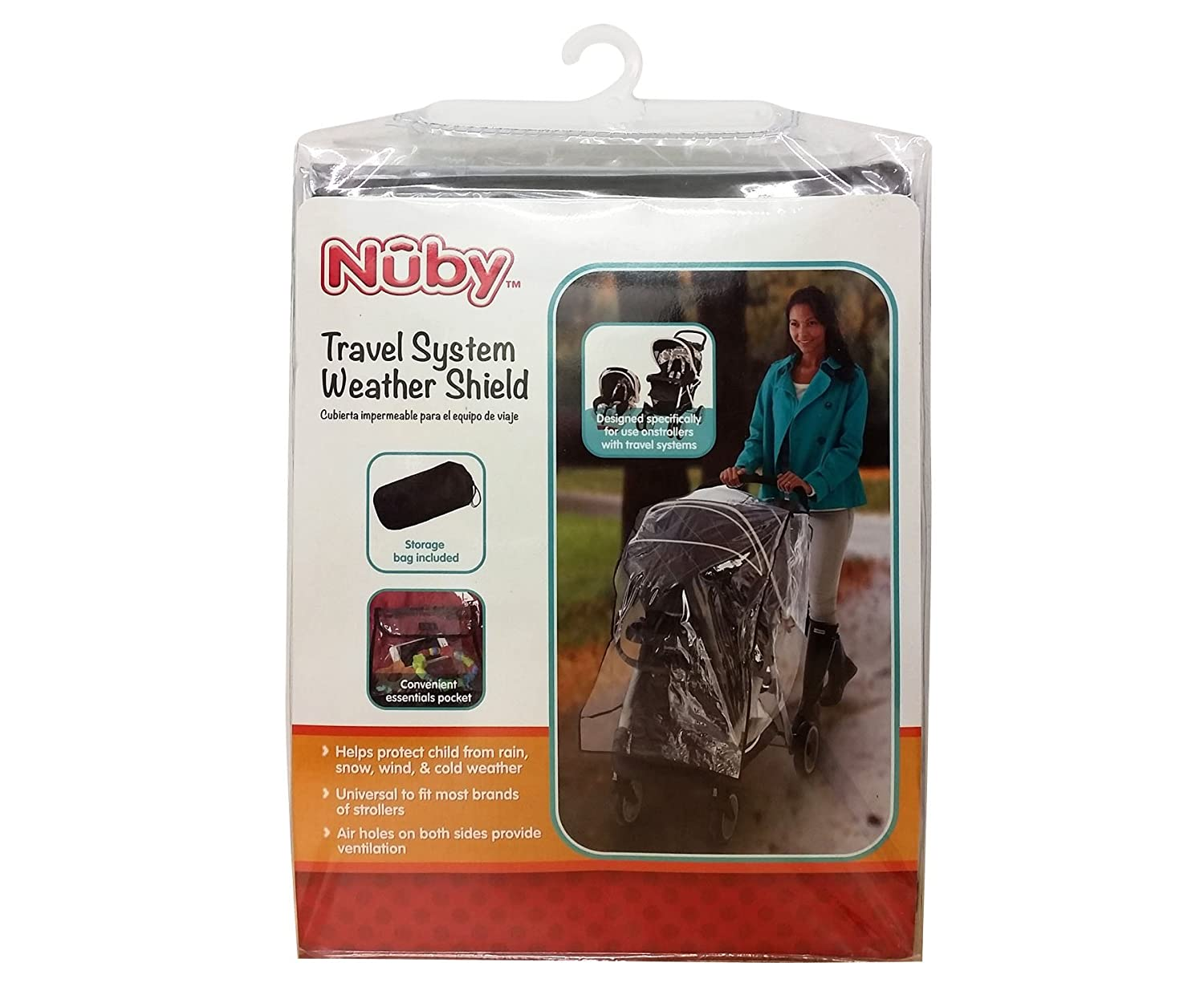 Nuby Travel System Weather Shield Clear Plastic