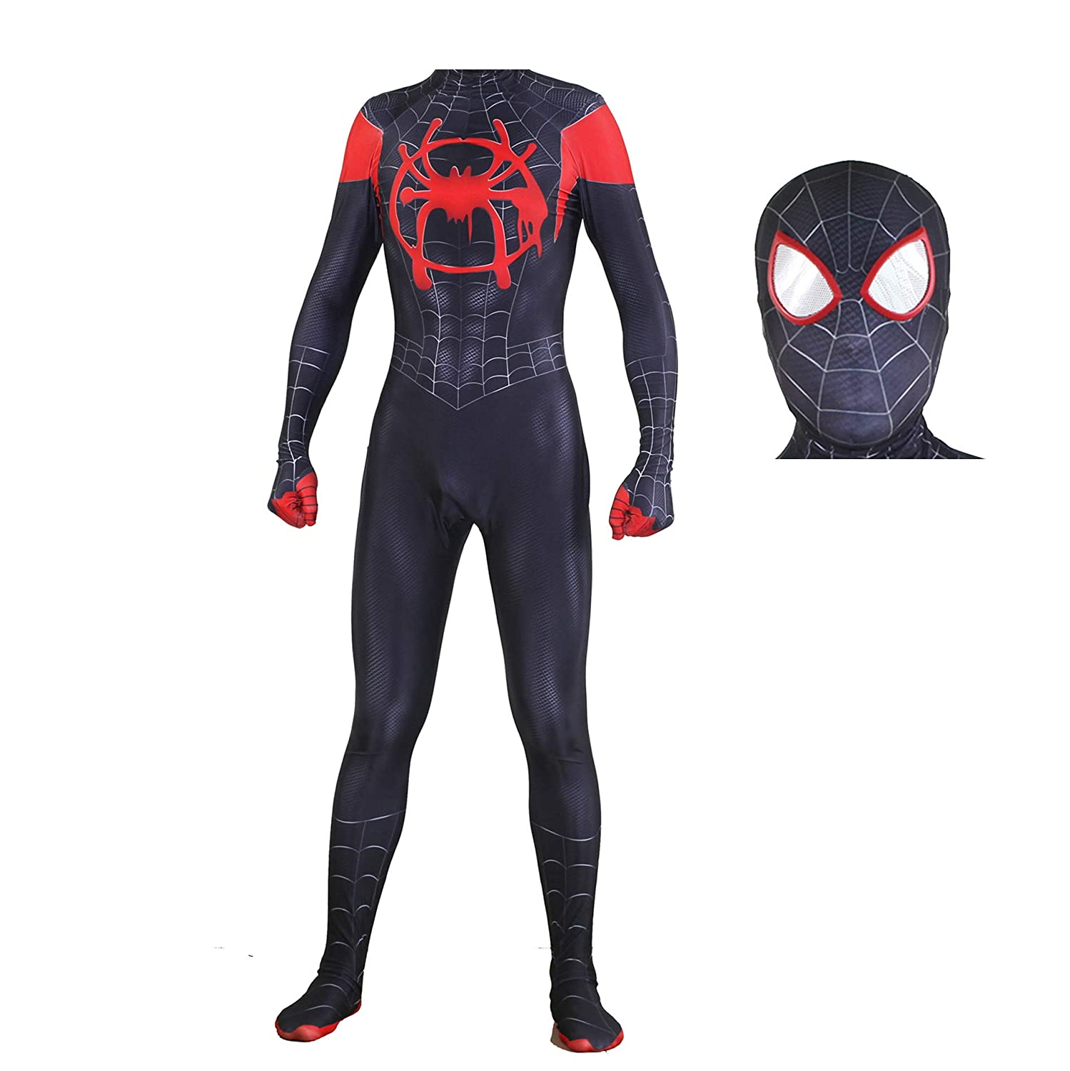 Amazon.com  Alicosplay Spiderman Into The Spider-Verse Suit Miles Morales Spiderman  Costume  Clothing e01f781bfc249