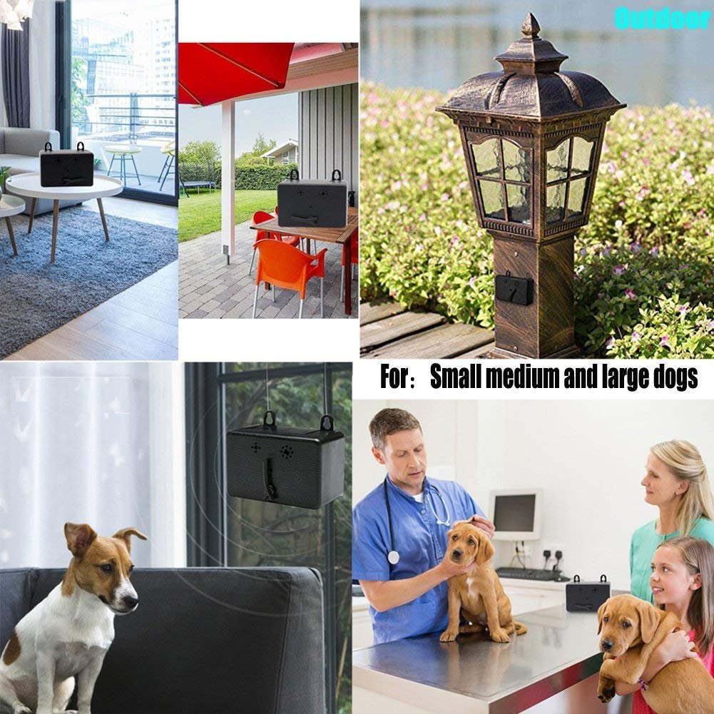 Big Deal Mini Outdoor Anti Barking Device Ultrasonic Dog Electronic Repellent Circuit 2 Bark Control Sonic Deterrents Silencer With Provisions For Hanging Or Mounting