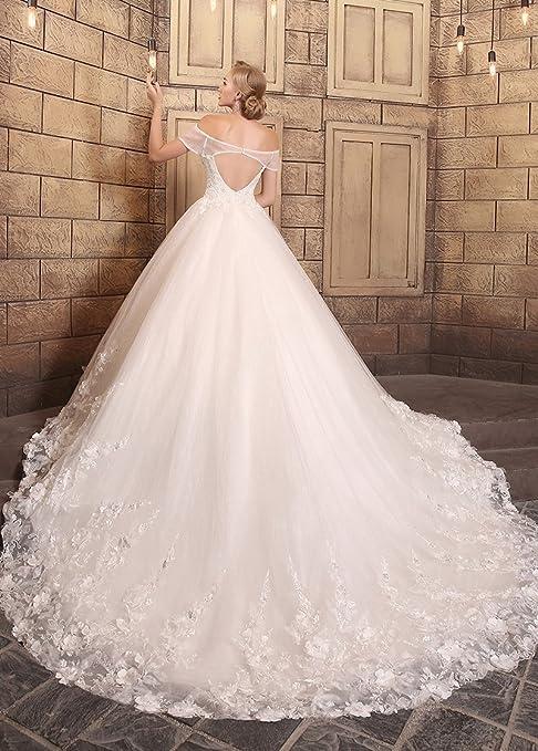 Adasbridal-vestidos de novia de Magnifico Tul de escote fuera del hombro: Amazon.es: Ropa y accesorios